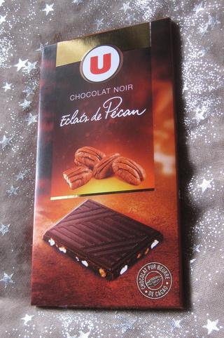 Chocolat noir éclat de noix de pécan