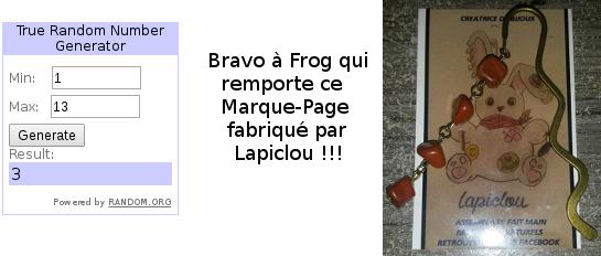 * Concours * Marque-page Lapiclou