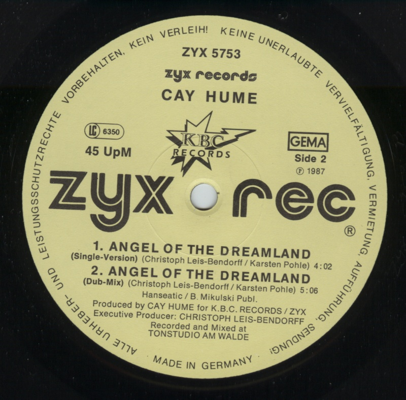 Cay Hume - Angel Of The Dreamland