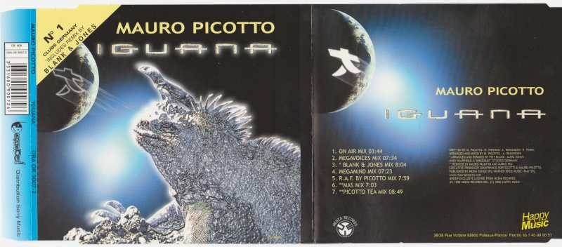 Cover Album of Mauro Picotto - Iguana - Maxi