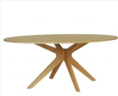 Table comeback 3 suisses - Table ovale design pied central ...