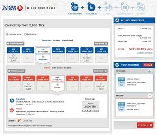 Pretul pentru biletele de avion de la Istanbul in Seychelles in Februarie - dati click pe imagine pentru rezolutie mare  1 lira tuceasca = 1.1 lei