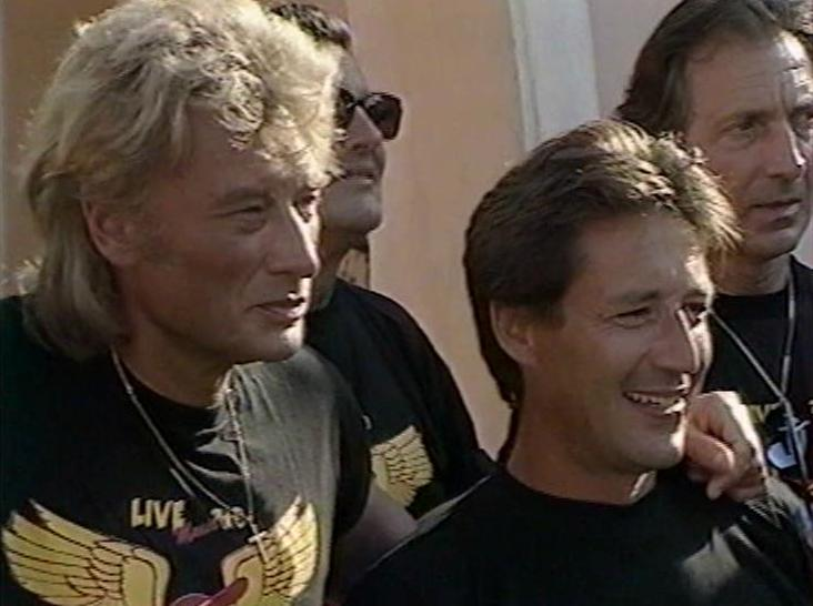 Johnny Hallyday Ballade En Moto A St Tropez Chez Bandana
