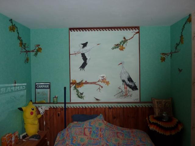 peindre soi m me des personnages sur les murs de la chambre d 39 39 un enfant. Black Bedroom Furniture Sets. Home Design Ideas