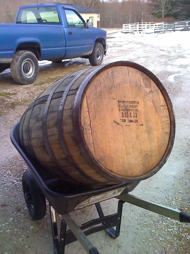 Jim Beam Whiskey Barrel For Sale