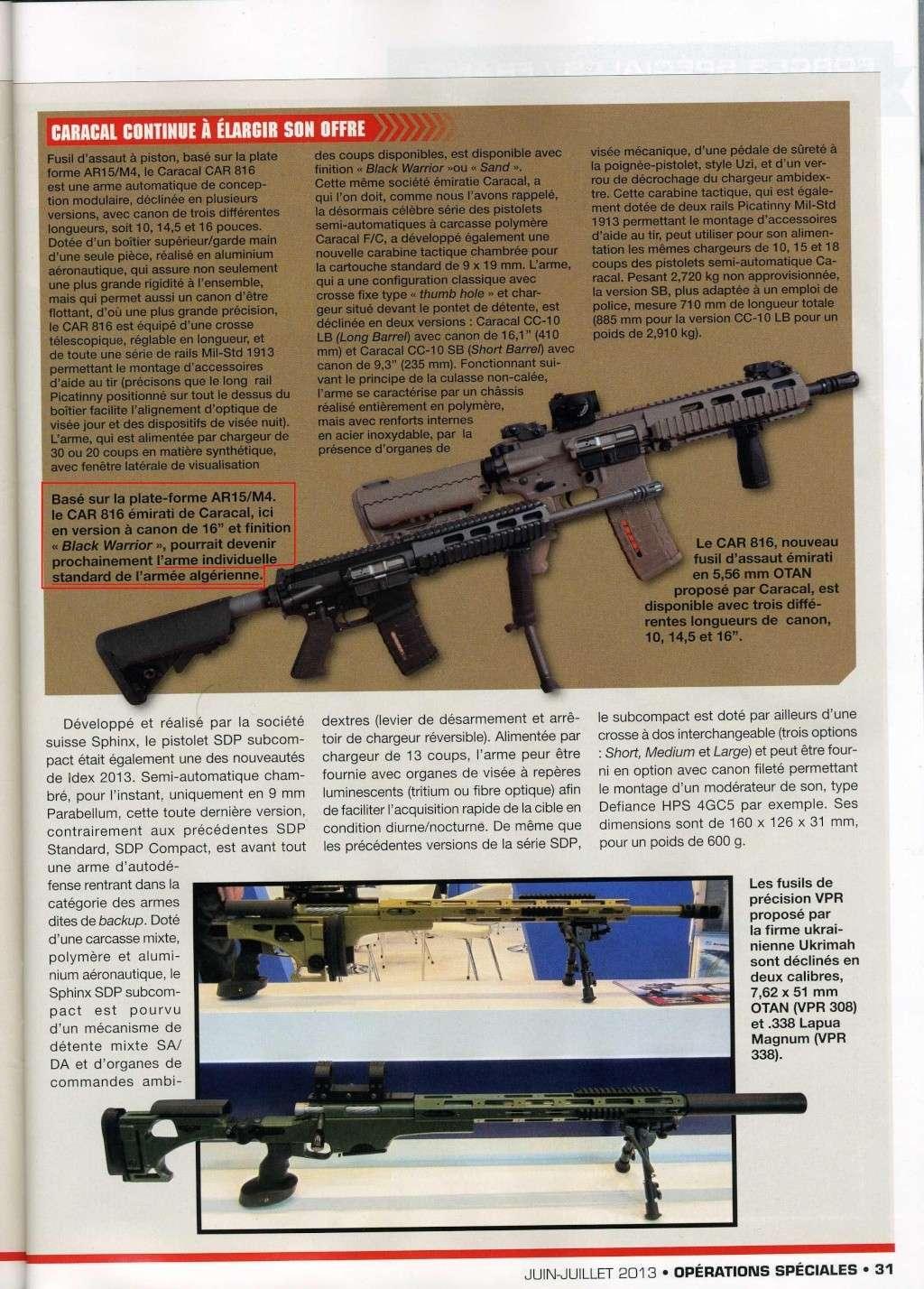 Balasan dari Caracal perkenalkan senapan serbu baru, Caracal