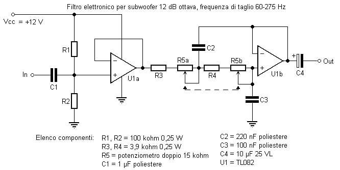 Schema Elettrico Amplificatore Per Basso : Urgente bisogno di schema elettrico per filtro subwoofer