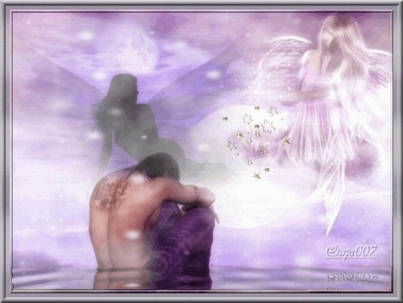 dans fond ecran ange violet anges10
