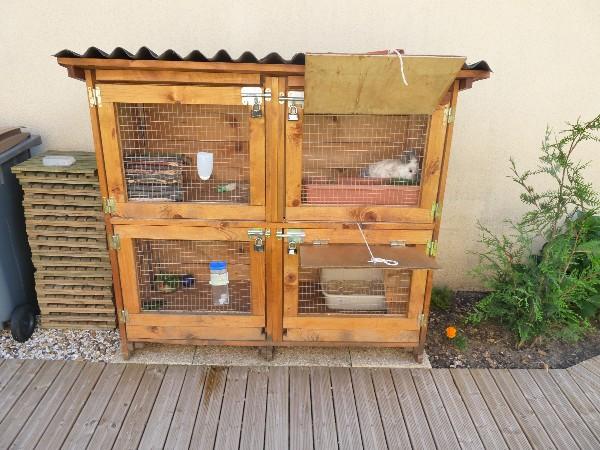 Forum lapins et lapins les photos de vos cages etc for Clapier lapin fait maison