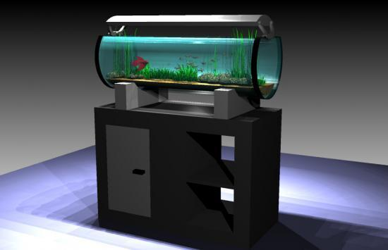 Meuble aquarium 120 litres for Meuble aquarium design