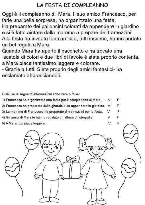 Famoso COMPRENSIONE DEL TESTO CG96