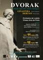 Affiche Concerts Dvorak mars 2017, Paris