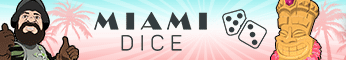 Miami Dice Casino $/£/€3500 Welcome Bonus + 200 Free Spins