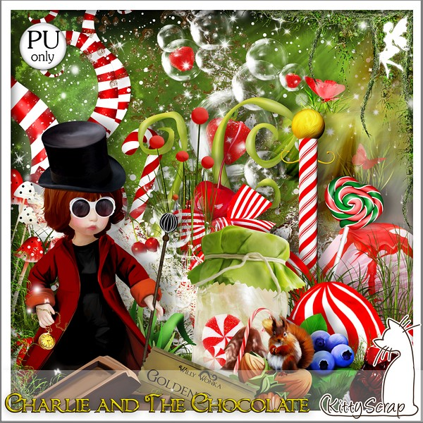 Charlie and the chocolate by KittyScrap dans Janvier kittys60