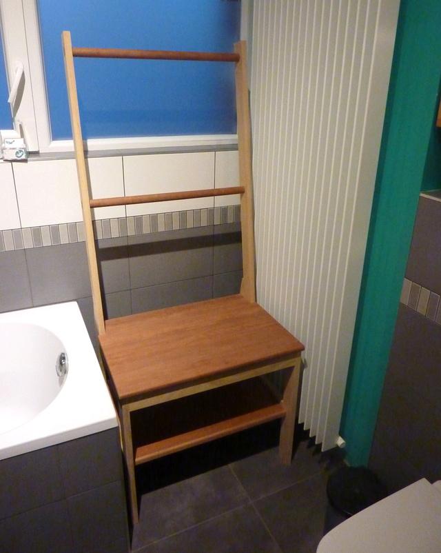 chaise porte serviette tiroir. Black Bedroom Furniture Sets. Home Design Ideas
