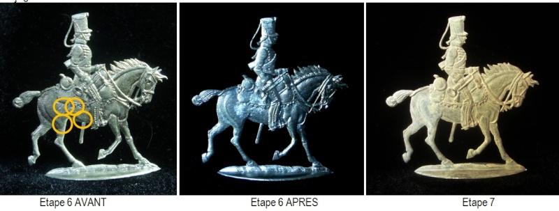 Plat d 39 etain 7e hussards 1er empire cbg mignot 30mm for Poncage peinture