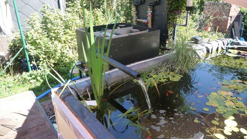 Filtre pour bassin fait maison filtre plant de roseaux diy pond and easy to build filtre pour - Cascade de bassin fait maison ...