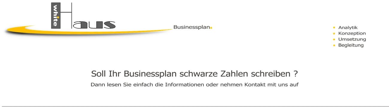 white Haus Businessplan