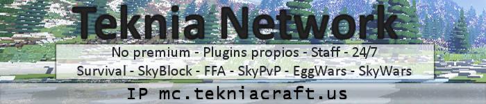 Teknia Network - IP mc.tekniacraft.us