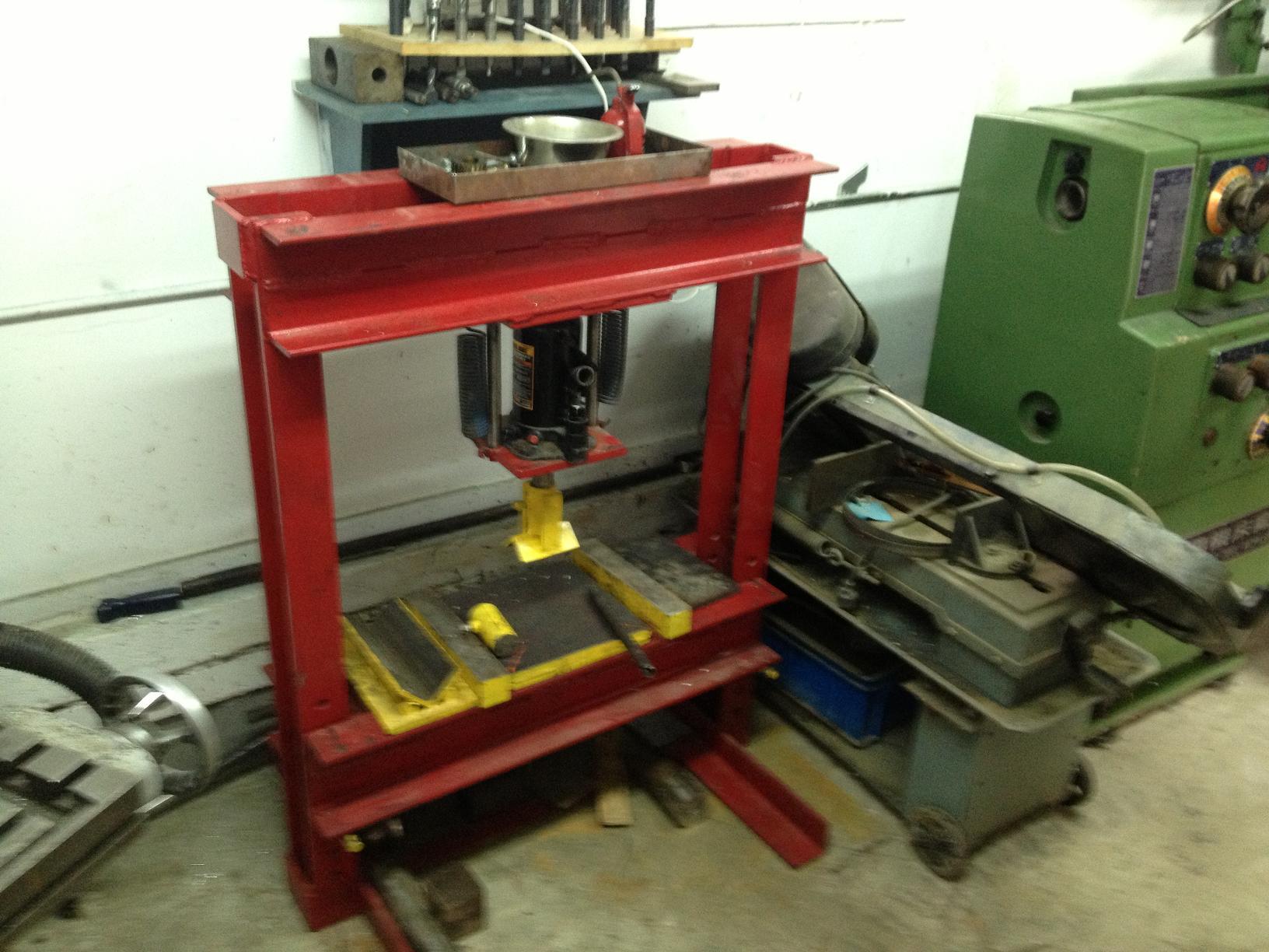 Mon atelier for Fabrication presse hydraulique maison