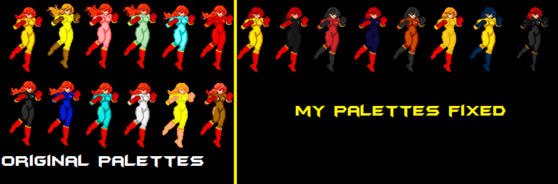 Firestar by Jhfer Palettes fixed - Downloads - The MUGEN ARCHIVE