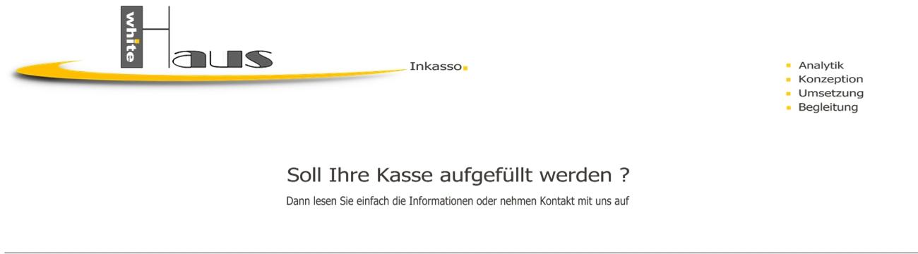 white Haus Inkasso - Forderungseinzug + Kostensenkung