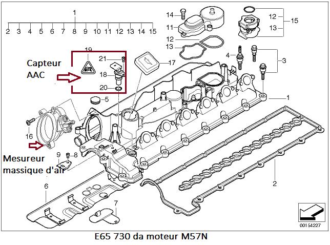 bmw e65 730da m57n an 2004   rat u00e9s moteur et perte de