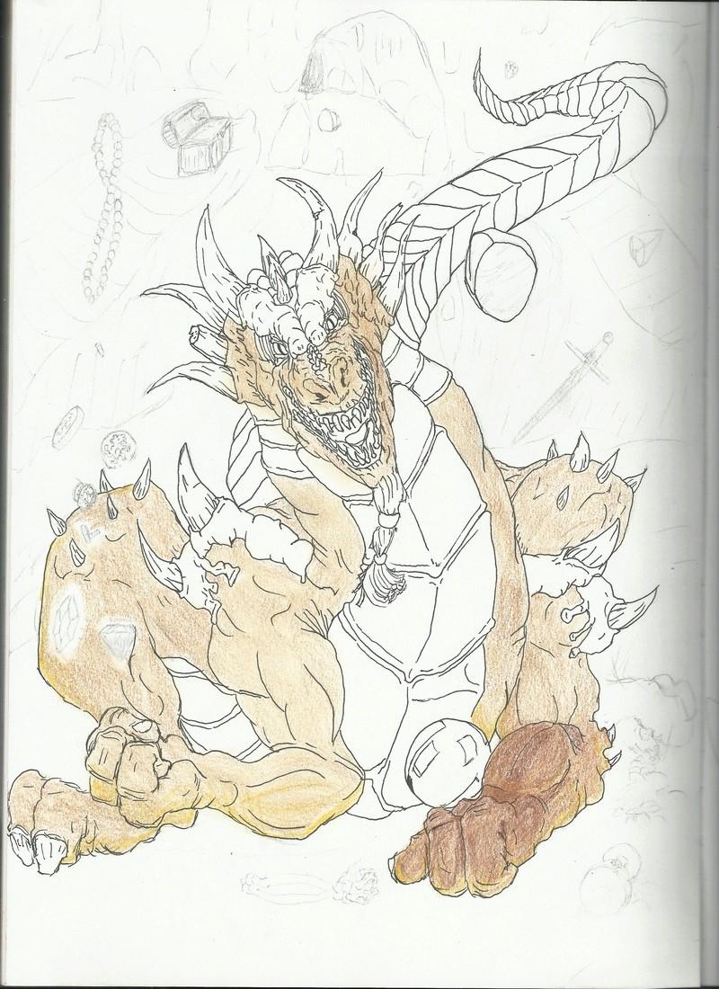 croquis dragon