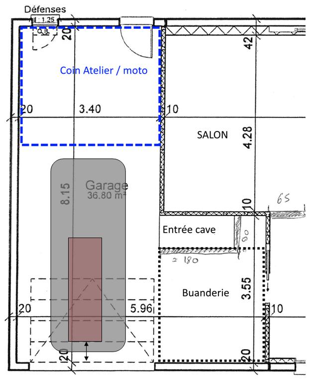 taille garage voiture standard maison design. Black Bedroom Furniture Sets. Home Design Ideas