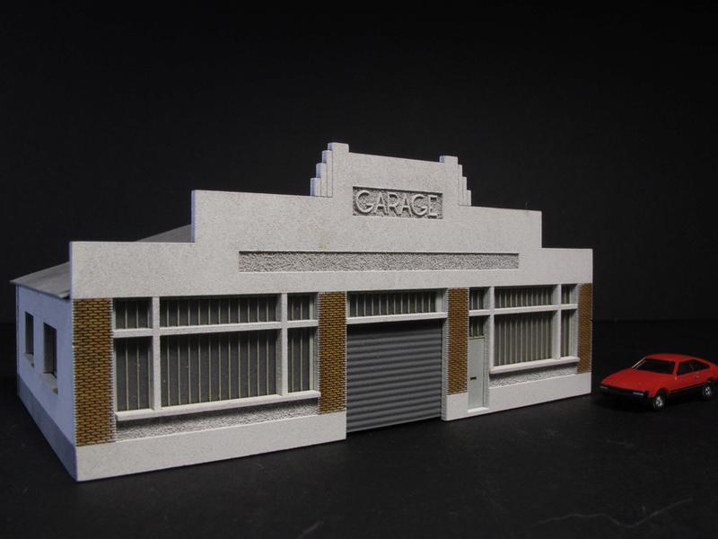 cites miniatures garage automobile art deco. Black Bedroom Furniture Sets. Home Design Ideas