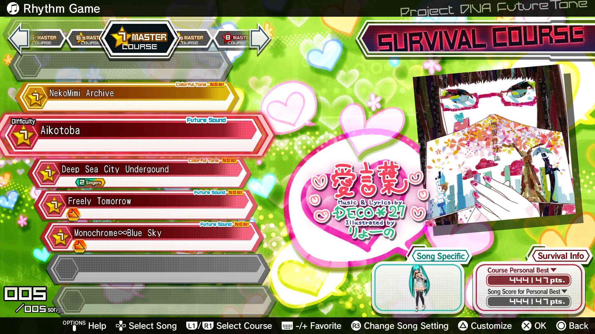 Hatsune Miku: Project Diva Future Tone 06