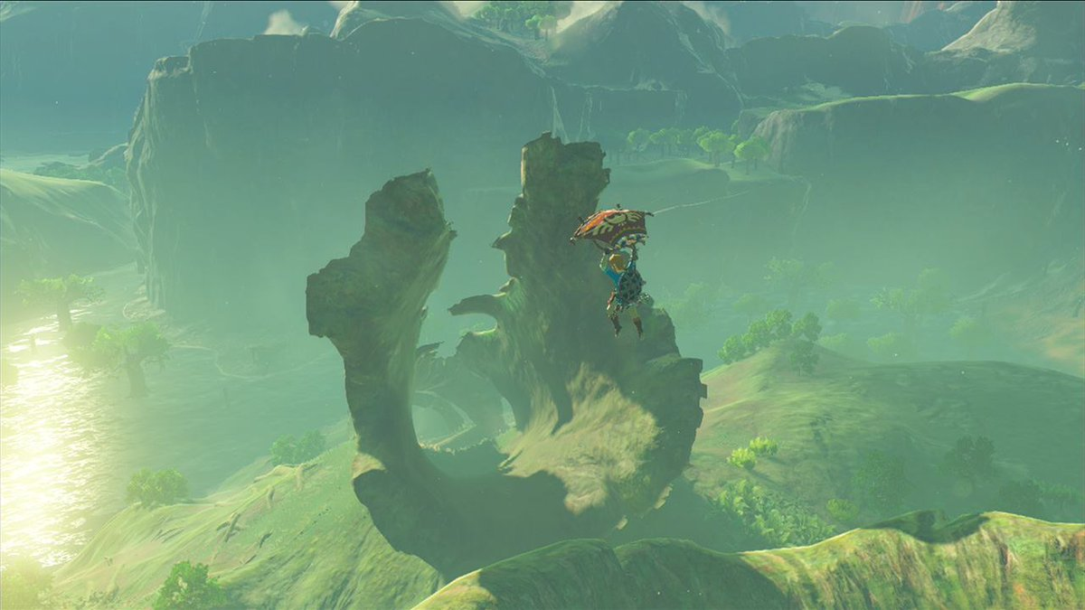 Link vola nel nuovo screenshot di Breath of the Wild