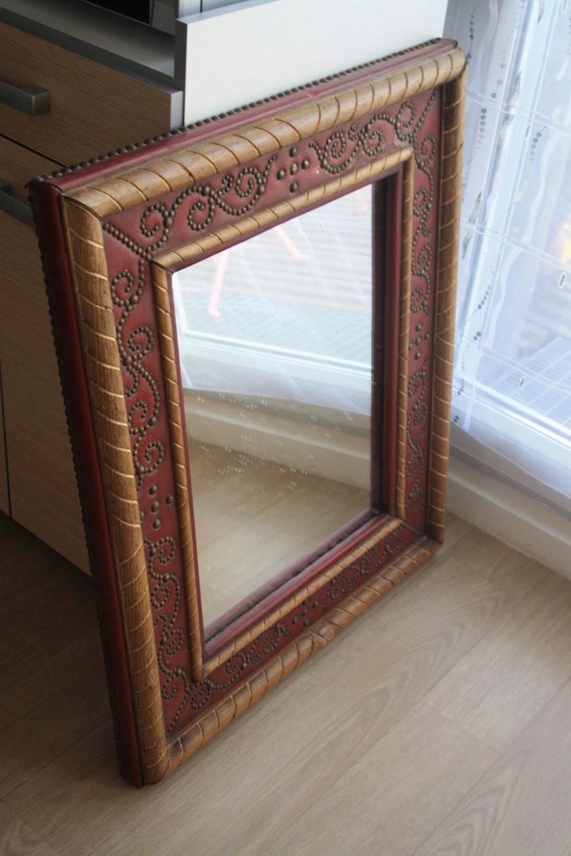 miroir ancien avec cachet au dos identifier. Black Bedroom Furniture Sets. Home Design Ideas