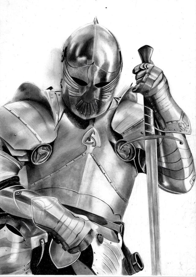 Chevalier en armure - Dessin armure ...