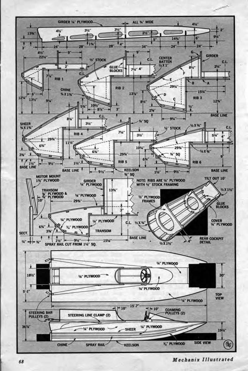 Tunnel Hull Plans