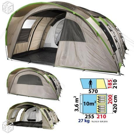 Tente 6 2xl quechua for Tente 2 chambres decathlon