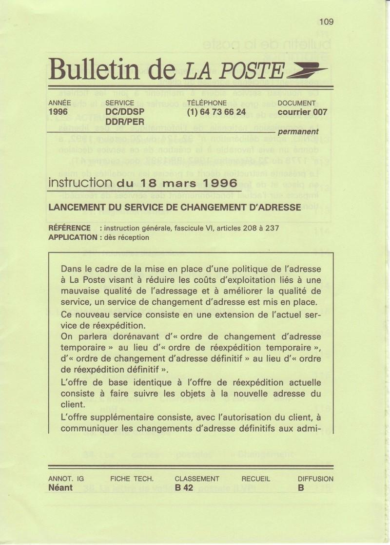 Ordres de r exp dition entre 1995 et 2002 et peut tre for Reexpedition du courrier temporaire
