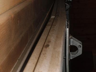 & Garage door top stiffener